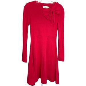 Eliza J. Women's Dress Pink Career Midi Bow Small